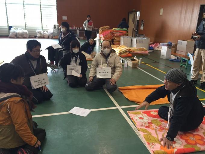 避難者支援拠点管理者訓練の様子
